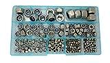 Guard4U 215Pcs 8-Size Metric Stainless Steel Nylon Hex Lock Nuts Assortment Kit, For M2.5 M3 M4 M5 M6 M8 M10 M12 screws bolt