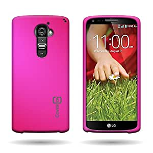 CoverON® Hard Rubberized Slim Case for LG G2 VS980 (Verizon Only) - with Cover Removal Pry Tool - Rose Pink