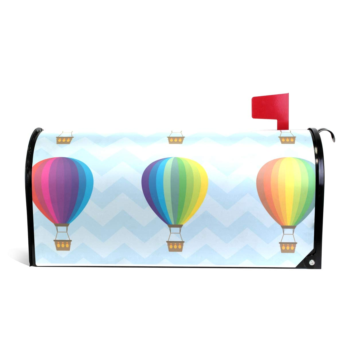 LORVIES Hot Air Balloons Magnetic Mailbox Cover Oversized 25.5 x 18 Inch