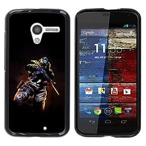 TikTakTok Funda Carcasa protectora para Motorola Moto X 1 1st GEN I - Terrorista cráneo enmascarado