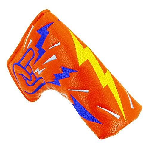 Big Teeth Golf Blade Putter Cover Headcover Club Protector Magnetic Bar Closure for Scotty Cameron Taylormade Odyssey ()