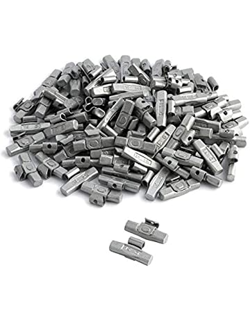 100 unidades de 15 g de pesos de percusión equilibrados para llantas de acero galvanizado.
