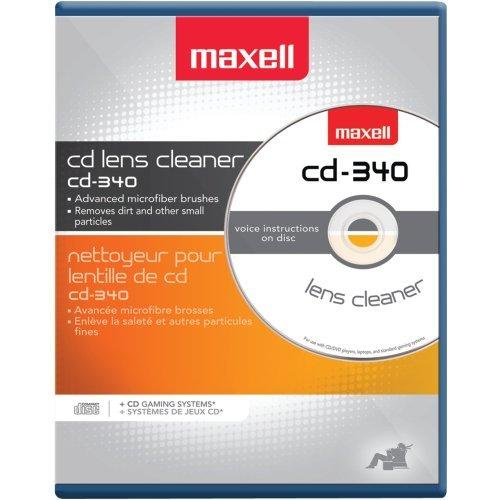 MAXELL 190048 CD/CD-ROM Laser Lens Cleaner Consumer (Maxell Cd Disc Cleaner)