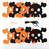 Willsa 1 Set Halloween Hanging Holiday Party Decoration Ornaments DIY Pull The Flag