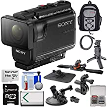 Sony Action Cam HDR-AS50 Wi-Fi HD Video Camera Camcorder with VCT-STG1 Shooting Grip Tripod + Action Mounts + 64GB Card + Battery + Backpack + Kit