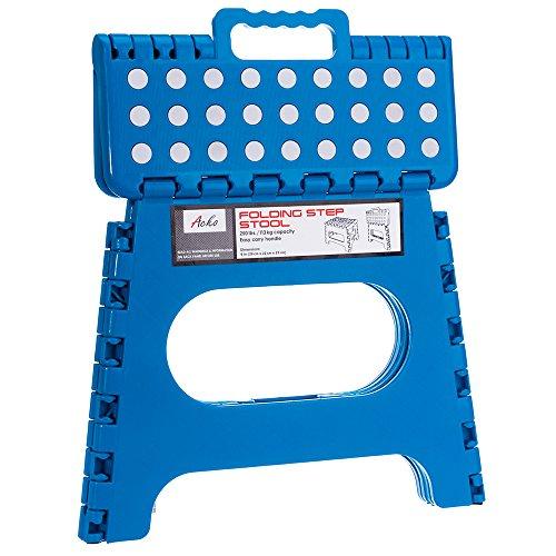 Acko Blue 11 Inches Non Slip Folding Step Stool For Kids