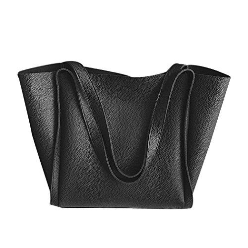 Compras negro Para de Niñas Bolso Mujer Mochila ESAILQ Cuero Movil Bolsa A Hombro Multiusos De 6Ux8nq