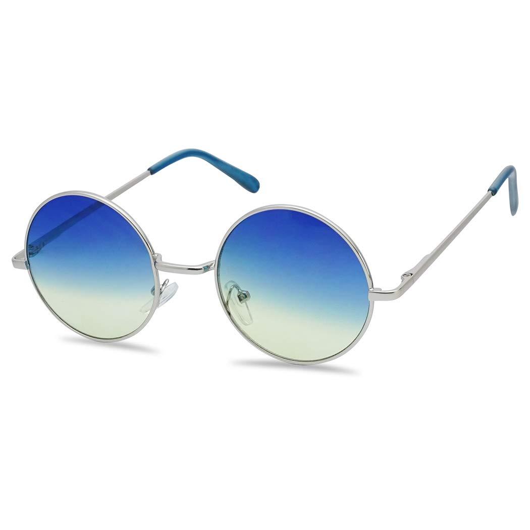 Amazon.com: Gafas de sol circulares de colores con diseño ...