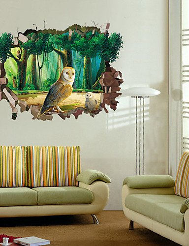 Home decoration animals botanical landscape wall stickers 3d wall stickerspvc 5070cm