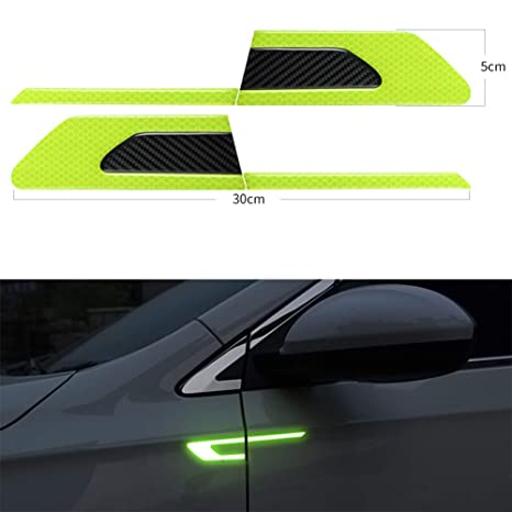 Driving Luminous Car Sticker Reflective Strip Safety Warning Decals Reflector
