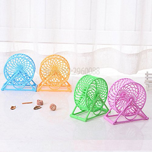 Hot Products Multi Color Pp Rats Toys Material Running Wheel Pet Toy Accessories Ratten Hamster Supplies 51gMM5rforL