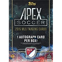 2015 Topps Apex MLS Soccer Unopened Factory Sealed Blaster Box of Packs with 32 Cards Per and One Autographed Card in Every Box