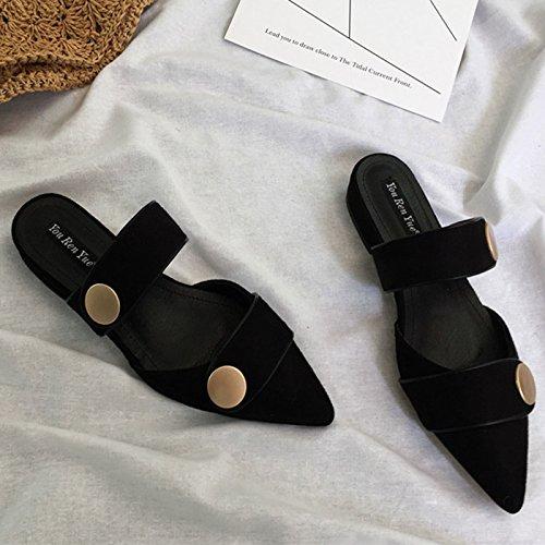 sandali del luce piatta estivo con Angrousobiu pantofole piatto donne della Purtroppo sandali piatto punta i colori luce per Pwq7xRqt
