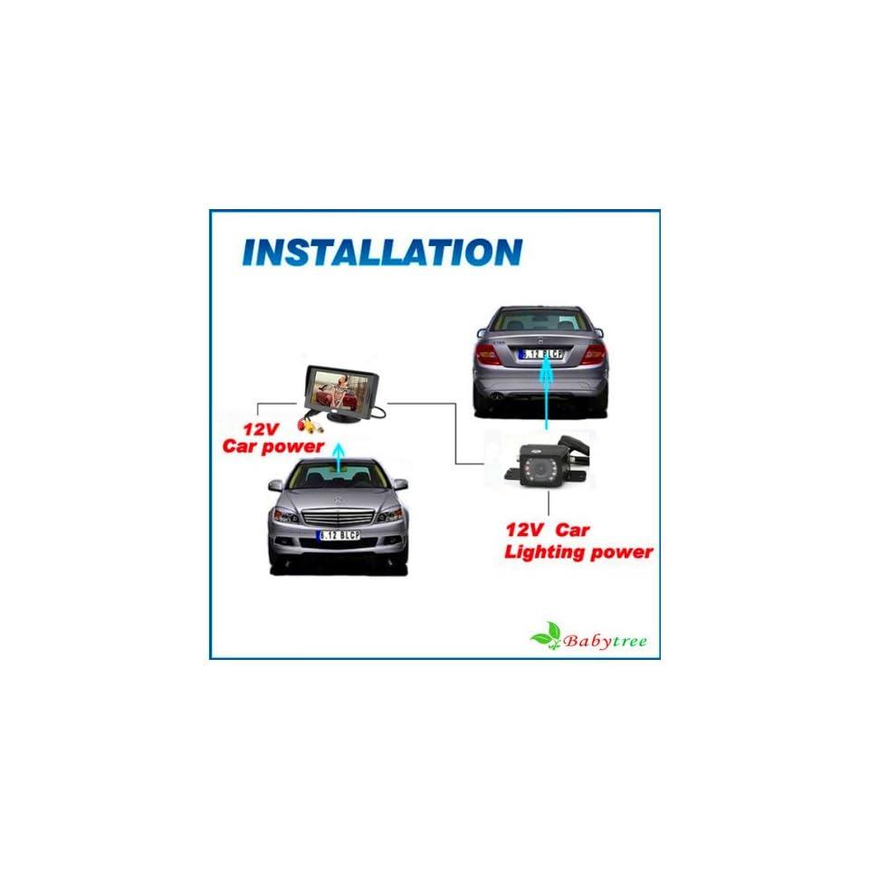 Waterproof Cmos/cdd Rearview Car Camera& 4.3 Tft Lcd Backup Car Monitor