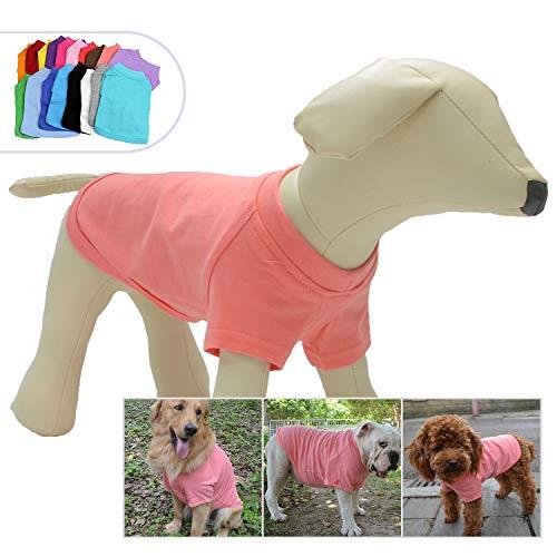 Lovelonglong 2019 Pet Clothing Dog Costumes Basic Blank T-Shirt Tee Shirts for Small Dogs Lotus Pink M