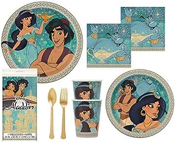 Amazon.com: Aladdin - Servilletas de plástico dorado para ...