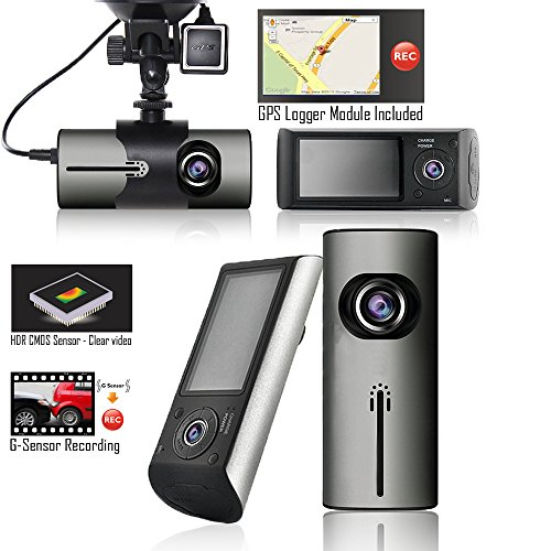 Indigi HD Car DVR Dual Camera Lens