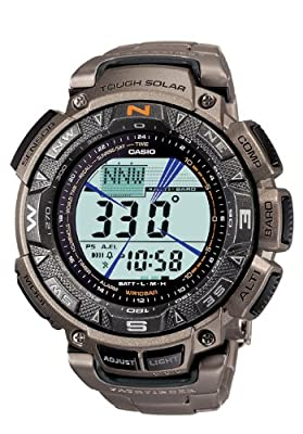 "Casio Men's PAG240T-7CR ""Pathfinder"" Triple-Sensor Multi-Function Titanium Watch by Casio"