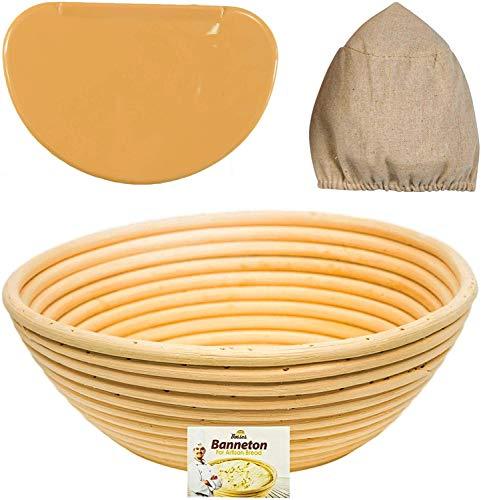 (9 Inch Proofing Basket Bread Proofing Basket Banneton Proofing Basket Bread Basket Proofing Bread Baking Bread Making Proofing Baskets For Sourdough Bread Sourdough Proofing Basket Brotform)