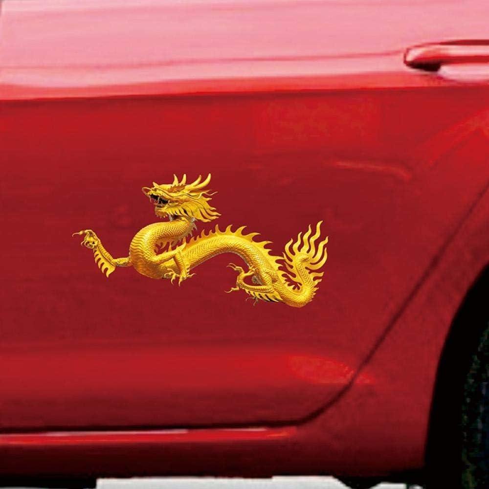 Sijoo Aufkleber Kratzer Autoaufkleber Chinesische Drachen Kreative Modifizierte Türen Wasserdichte Aufkleber Tankdeckel Kratzer Persönlichkeit Küche Haushalt