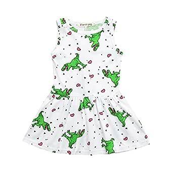 DFVVR - Traje de bebé ❤ Vestido de bebé niña con diseño de ...