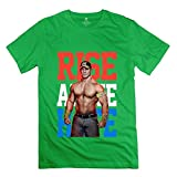 Men's John Cena Rise Above Hate Tshirt Size XS ForestGreen