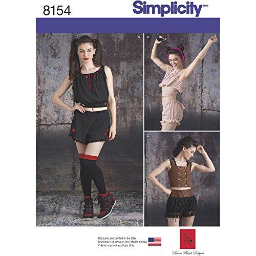 Simplicity Fashion - Simplicity Creative Patterns 8154 Misses' Alternative Fashion Sportswear Pieces, D5 (4-6-8-10-12)