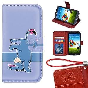 Caso Monedero Samsung Galaxy S6 Funda, Twodee - Disney Winnie the Pooh Eeyore Funda de cuero de alta calidad PU Funda carpeta del tirón del caso del soporte de la cubierta Funda para Samsung Galaxy S6 con ranuras para tarjetas