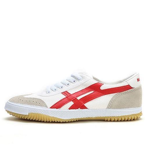 Yvonnelee 201812190157 - Zapatillas de Boxeo de Lona para Mujer Blanco Blanco: Amazon.es: Zapatos y complementos