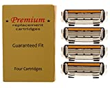 Premium 4-Blade (4 count) Replacement Cartridges