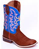 YHY0001 Twisted X Kid's Hooey Western Boots - Cognac/Neon Blue - 4.5 - M