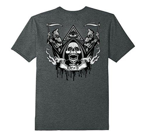 Dark Angel Halloween Costume Ideas - Mens Funny Death Halloween - Angel Of Death T-Shirt 3XL Dark Heather
