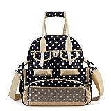 Truedays Baby Diaper Nappy Bag Mummy Backpack Messenger Handy Bag,Royal blue