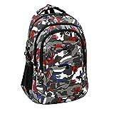 Outsta Men Nylon Climb Bag,Boys Girls Shoulder Bookbags School Satchel Travel Backpack Zipper Bag School Classic Basic Casual Daypack Outer (Red)