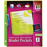 Avery Corner Lock Binder Pocket with 3 Pockets, (75312)