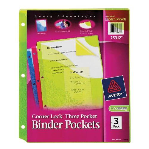 Avery Corner Binder Pockets 75312