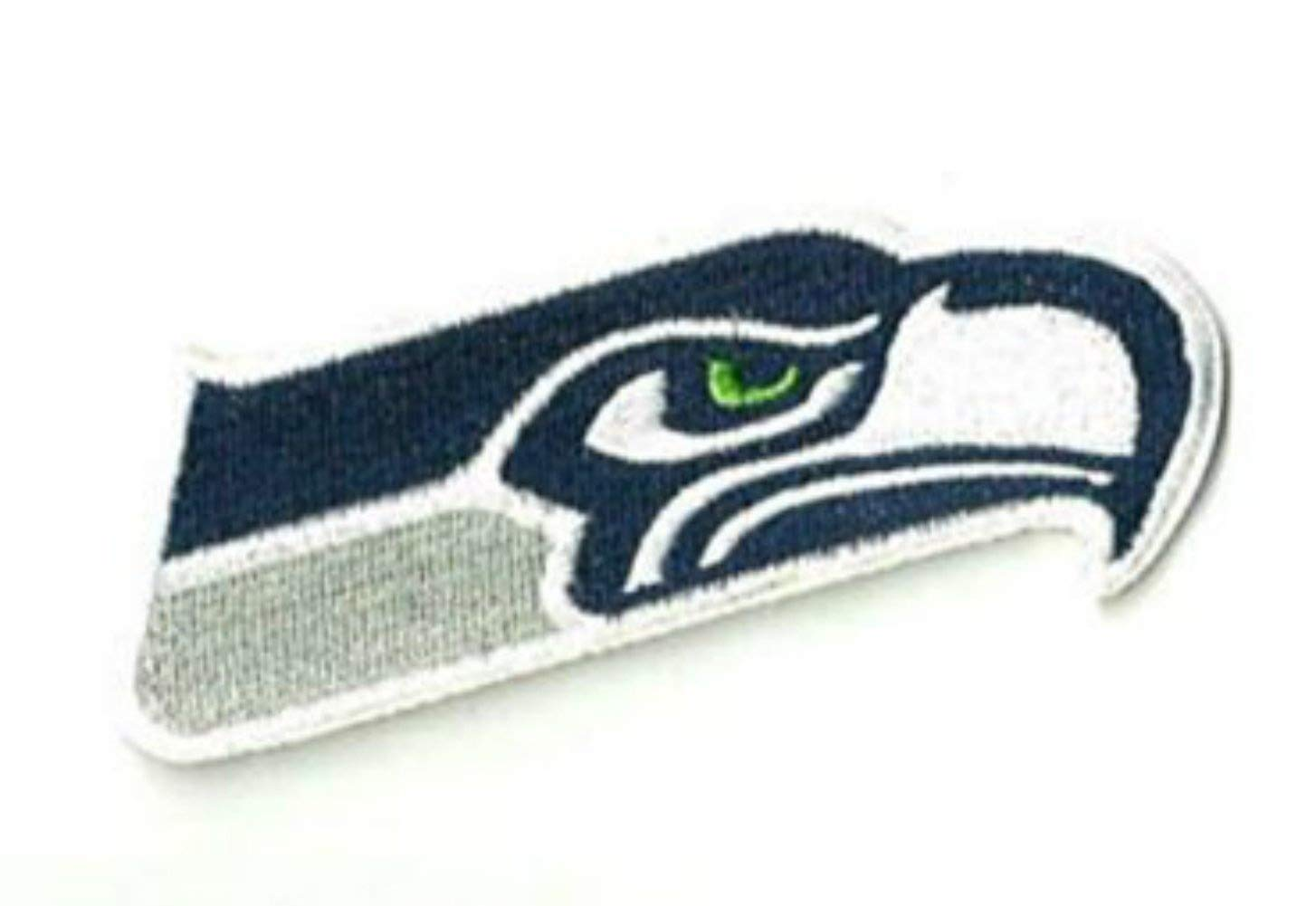 InspireMe Family Owned Seahawk Sew/Iron-on Patch/Applique 3.5' x 1.5'