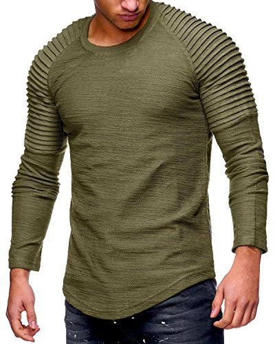 Tutorutor Mens Long Sleeve T Shirts Slim Fit Muscle Ruched Pullover Hipster Hip Hop Basic Tees by Tutorutor