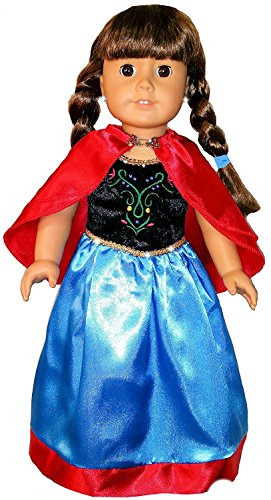 FROZEN Anna Elsa Princess Costume Dress - Fits American Girl Dolls - QUALITY 18
