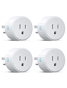 Govee Smart Plug, Mini WiFi Socket Outlet Works with Alexa and Google Assistant, No Hub Required, Remote Control 4-Pack