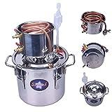 Seeutek 2 Gal 8L Water Alcohol Wine Home Distiller Copper Moonshine Still Kit Stainless Boiler Thumper Keg