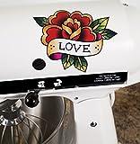 Love Bird Tattoo Art Style Vinyl Decals for Kitchen