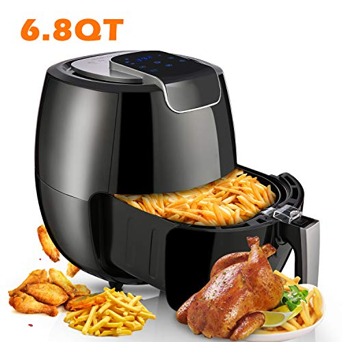 Air Fryer XL 6.8QT, 1800W Air Cooker Electric Hot Air Fryers Oven Oilless Cooker with LCD Digital Touchscreen