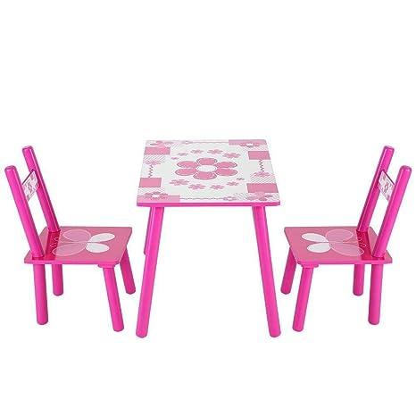 Juego de mesa de madera para niños, mesa de estudio y 2 sillas ...
