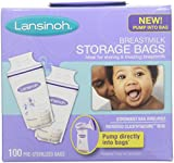Health & Personal Care : Lansinoh Breastmilk Storage Bags, 100 Count (2)