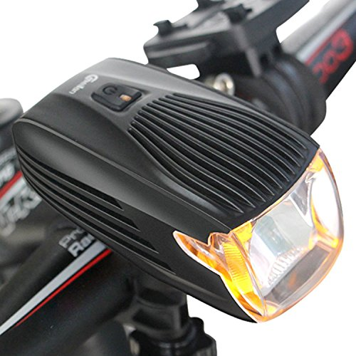 (Meilan Cree LED Bike Light, USB Rechargeable Bicycle Headlight,Automatic Light System,Yellow Daytime Light, Flashlight, Waterproof and Easy To Instal)