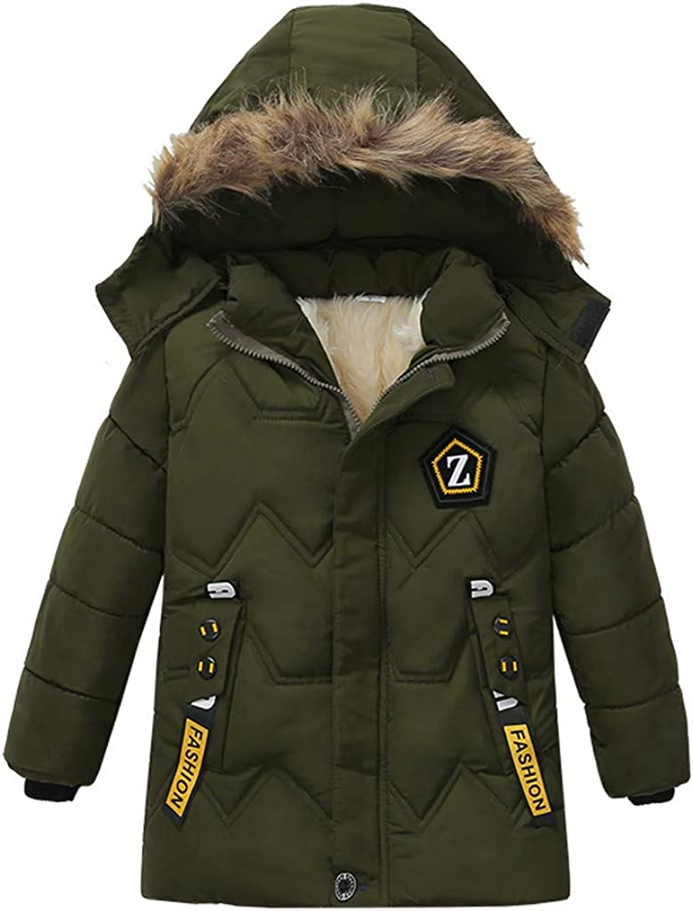 WOCACHI Boys Parka Jacket Sale, Fashion Fashion Kids Coat Boys Girls Thick Coat Padded Winter Jacket Clothes Toddler 30% 50% 70% Discount Bargains Cape Cloak Baby Products for Chill Days