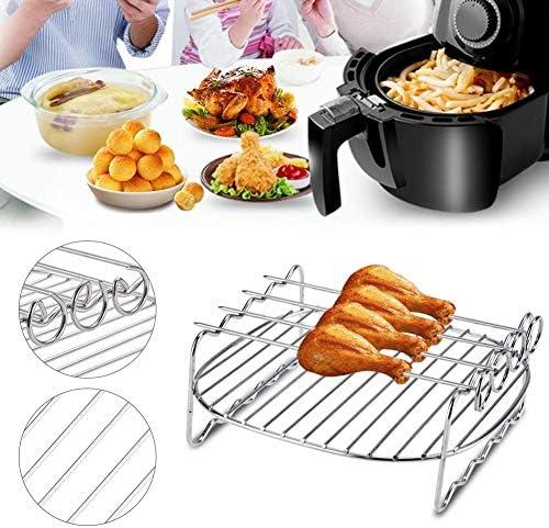Support De Barbecue en Acier Inoxydable De Plateau De Cuisson De Brochettes De Gril À Double Couche pour Le Camping
