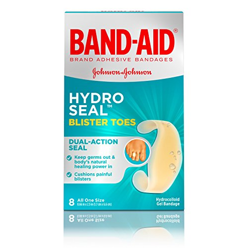 Band-Aid Brand Hydro Seal Adhesive Bandages For Toe Blisters, Waterproof Blister Pads, 8 ct - Healing Blister Cushions Band Aid