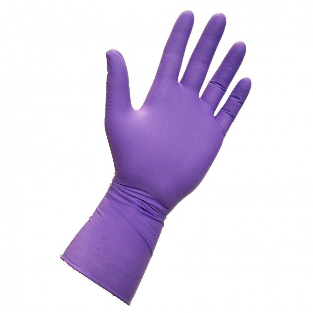 Halyard Health 39507 Purple Nitrile-Xtra Exam Gloves, Powder Free, Nitrile, Large, Purple (10 Boxes of 50, 500 Total)
